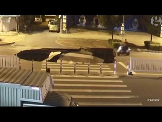 Have You Seen This? Man distracted by phone plunges into sinkhole