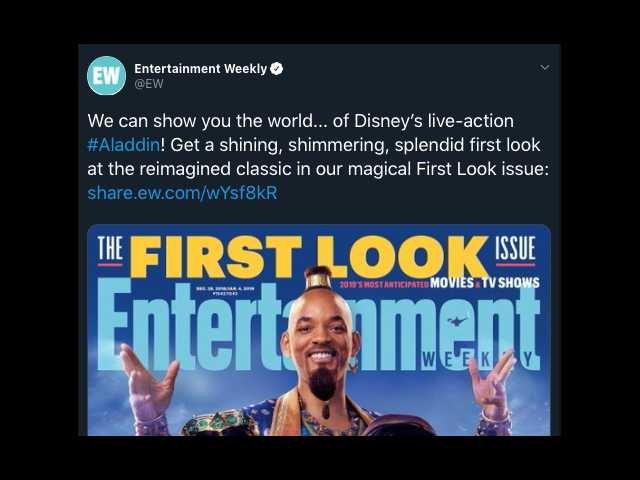 Is Will Smith Blue In Disney S New Aladdin Remake We Finally Have