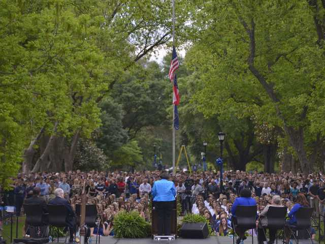 Georgia Southern vigil remembers lost 'sisters'