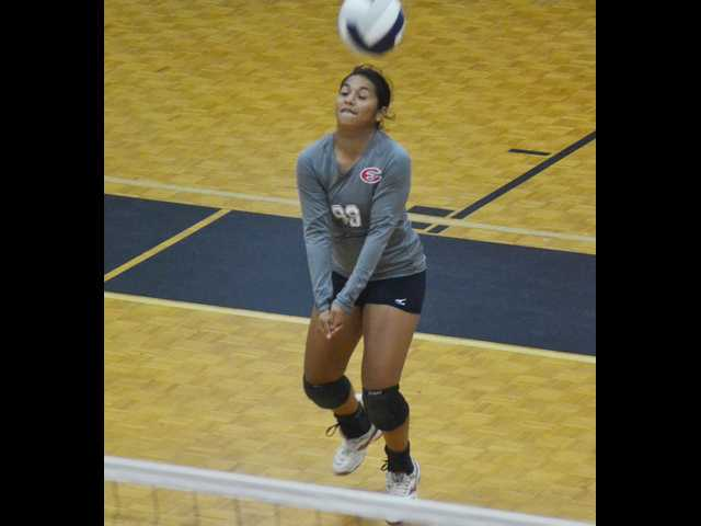 ECHS splits matches at volleyball home play day