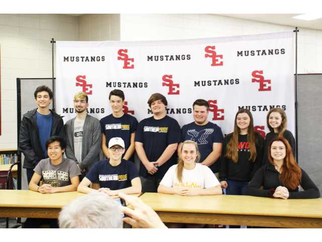 Bohong Cheng (front row, from left), Daniel Flood, Emily Elmore, Kiyah Adkins, (back row, from left) Andrew Jeffers, Jacob Shikany, Kevin Tinder, Kyle Hendrix, Parker Davis, Madyson Seely and Shae Gillespie