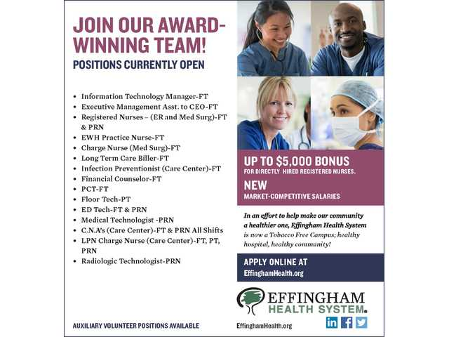 Effingham Health Employment 020718
