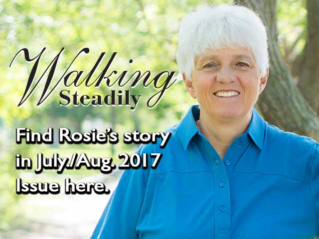 For Rosie Meier, Great Bend, walking is a habit. So much so, she brings walking to a whole new level. Her stick-to-itiveness is remarkable. Except for a two-month recovery period in 2002, she has consistently walked every day for over 25 years.