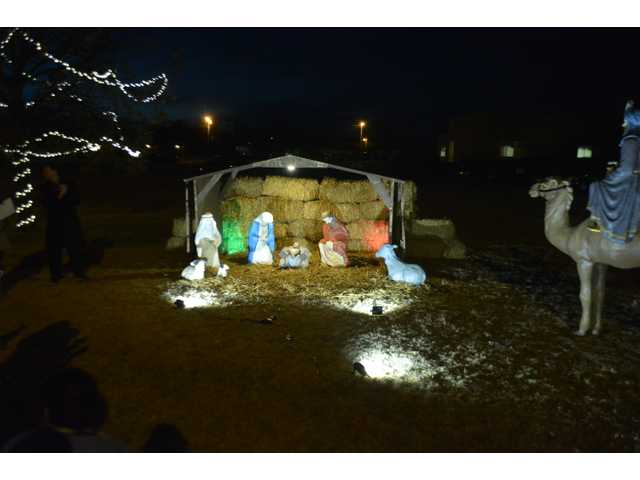 Clara Barton Hospital in Hoisington hosted its Commemorative Lighting Ceremony celebrating the restoration of the Nativity Scene on Wednesday. Volunteers spent many hours restoring the Nativity Scene to its original look over the past year.
