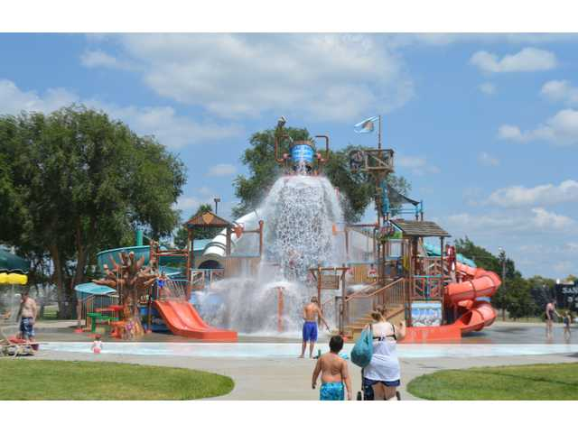 People of all ages were trying to beat the heat on Tuesday at Great Bend's Wetlands Waterpark. It is open seven days a week from 12:30-5:30 p.m., with family night featuring discounted admission on Thursdays from 7-9 p.m.
