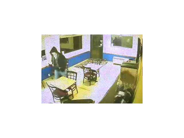 One of the suspects can be seen in this surveillance photo. People with any information about this crime are asked to contact the Great Bend Police Department, 620-793-4120.