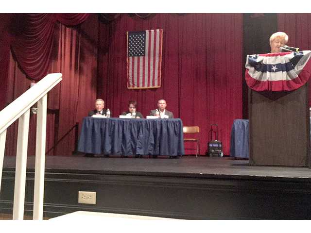 Mayoral candidates Brock McPherson, Allene Owen and Joe Andrasek participated in the 2017 League of Women voters candidate forum Tuesday night. The forum was sponsored by the League and the Great Bend Tribune.