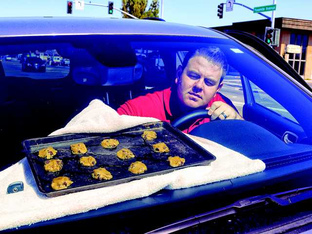 Almost hot enough to bake cookies in car