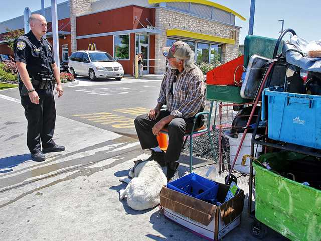 Officers respect constitution when dealing with homeless