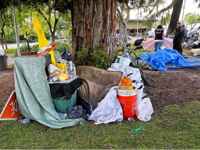 Warmer weather helps create surge of homeless on streets