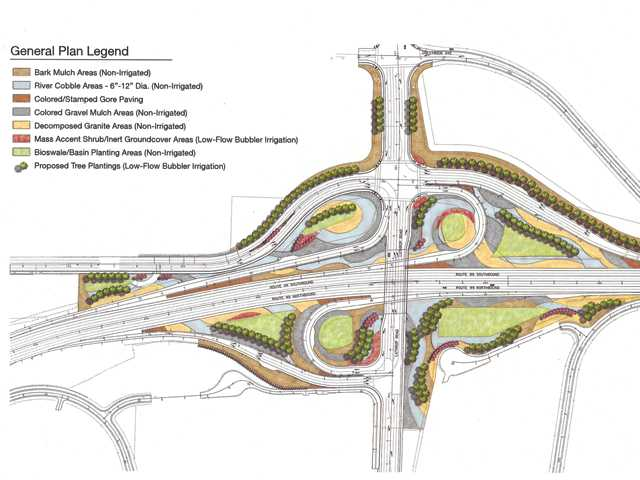 Lathrop Road interchange landscaping coming in 2017 with water wise design