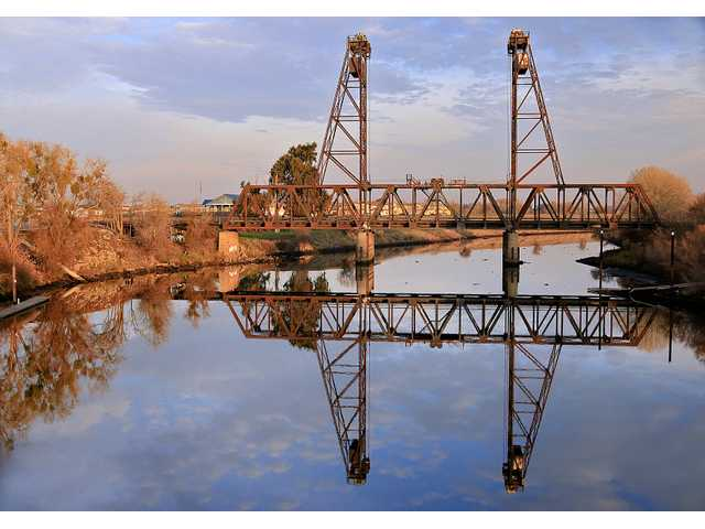 The vertical lift bridge at Mossdale is the most recent reincarnation of the original bridge that opened to rail traffic on Sept. 8, 1869 establishing itself as the true last link of the transcontinental railroad. The link at Promontory Point in Utah took place four months earlier.