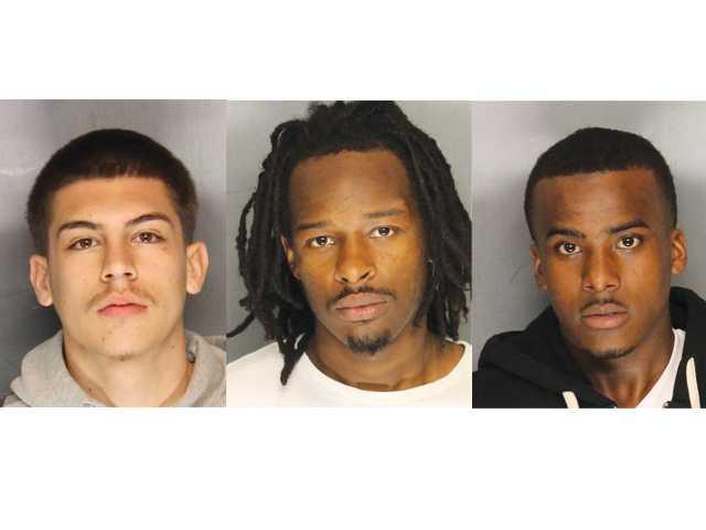Three arrested in sidewalk robberies
