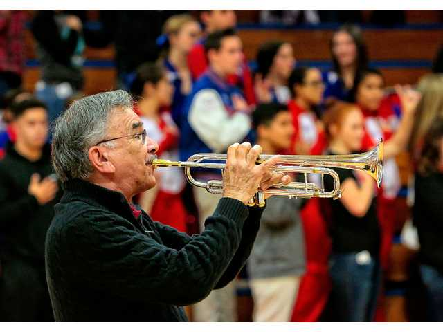 Jose Baron returned to East Union High to perform the national anthem on his signature trumpet at center court before the start of a girls' varsity game a few years ago.