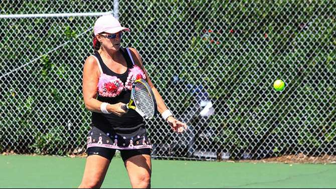 Smashing time at KCAF Tennis Tournament breast cancer fundraiser