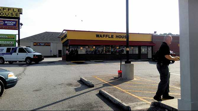 UPDATE: Search perimeter called off for Waffle House armed robber
