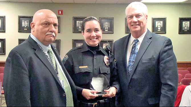 Lucas recognized for decade with Conyers Police
