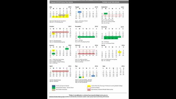 August start for 2015-16 school calendar proposed