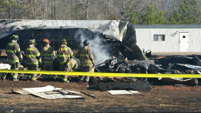 Church destroyed in fire Sunday morning