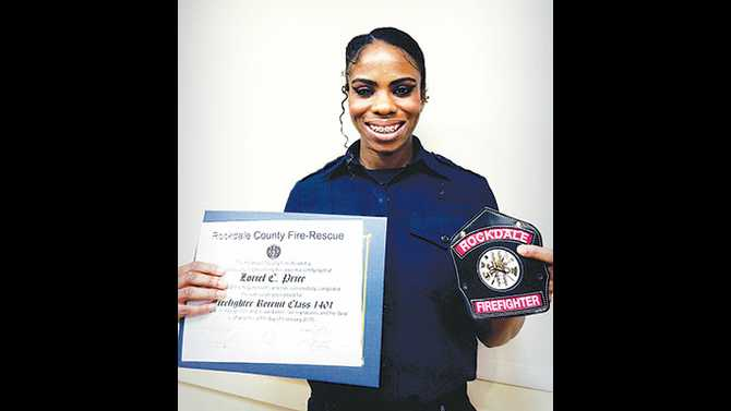 Rockdale Fire Rescue celebrates new graduates and first African American female graduate