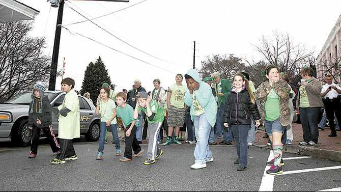 St. Patrick's parade and 0.1 mile endurance run festivities March 17