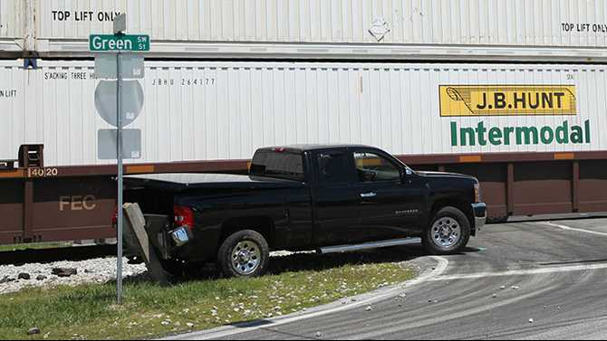 Railroad crossings reopened after train hit truck