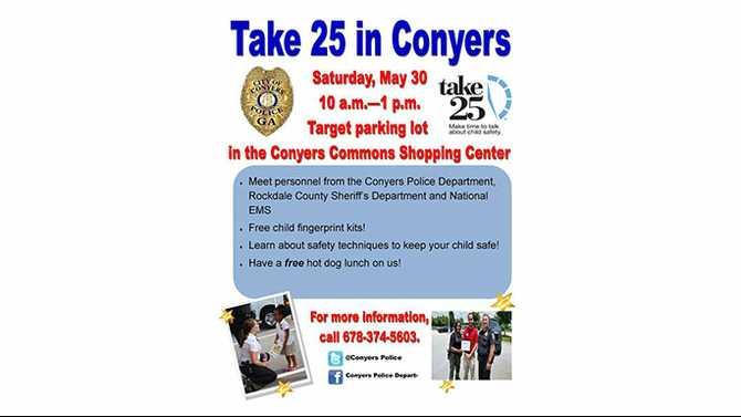 'Take 25' to keep kids safe, May 30, at Conyers Target