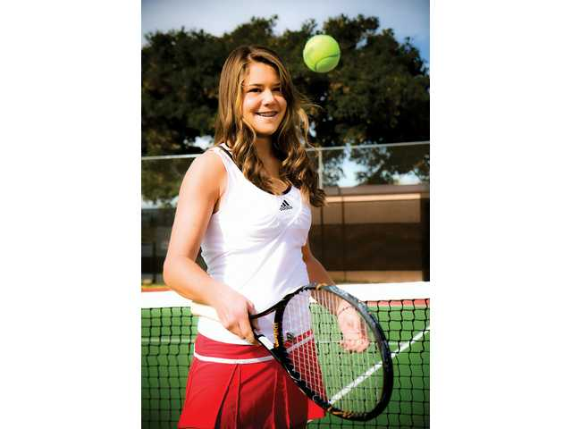 Hart sophomore Anne Susdorf is the 2008 All-Santa Clarita Valley Singles Player of the Year after an undefeated league season. She claimed the Foothill League title after beating West Ranch's Ana Lucia Fuentes in the final match.