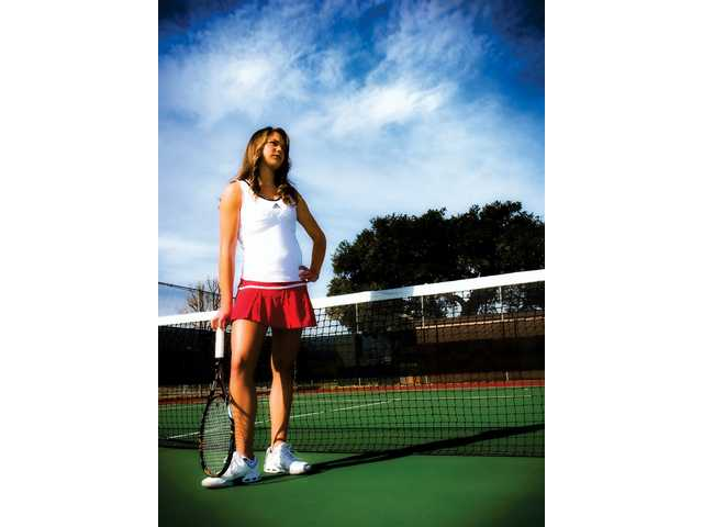 Hart sophomore Anne Susdorf is the 2008 All-Santa Clarita Valley Singles Player of the Year after an undefeated league season and Foothill League Title after beating West Ranch's Ana Lucia Fuentes in the final match.