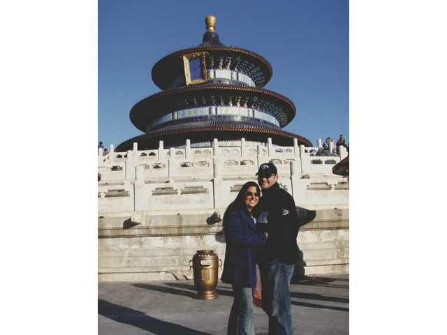 The Ketchepaws at The Temple of Heaven in China on a recent visit with the chamber of commerce.