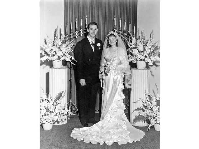 Lester and Millie Tanner on their wedding day, Sept. 3, 1949.