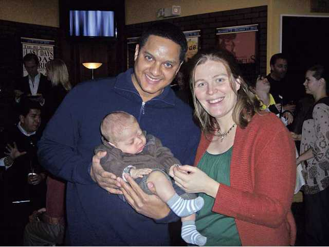 Left to right, Ramon Hamilton and wife Jennifer Fischer with their son Sky Fischer Hamilton. Hamilton and Fischer are co-founders of the SCV Film Festival.