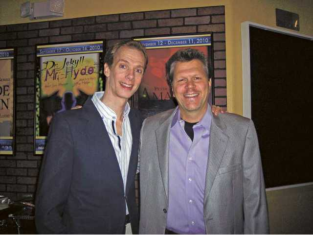 "Doug Jones, left and Bruce Economou from the film ""My Name is Jerry."" Jones, of Canyon Country, has appeared in many Hollywood films, but usually under ""rubber makeup."" ""My Name is Jerry"" is his first leading role using his own face. Economou is the film's executive producer."