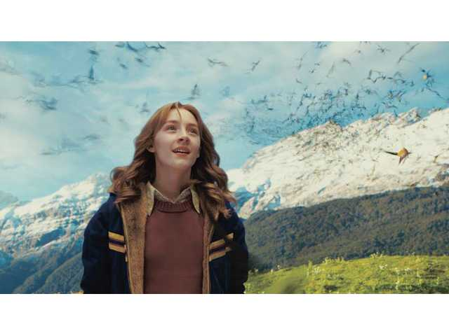 "Saoirse Ronan in a scene from ""The Lovely Bones."" The Dreamworks film opens in theaters this week."