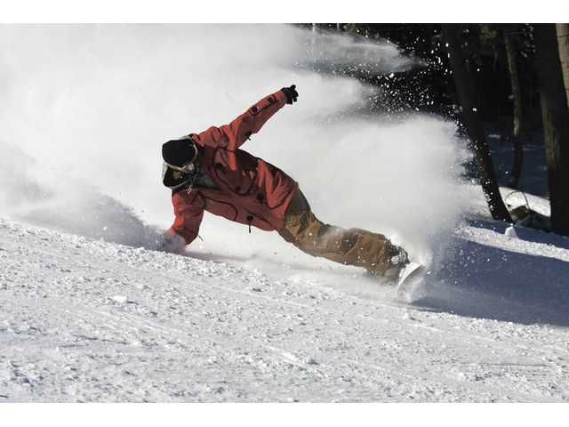 Bear Mountain is snowboard-friendly, with open slopes and several terrain parks.