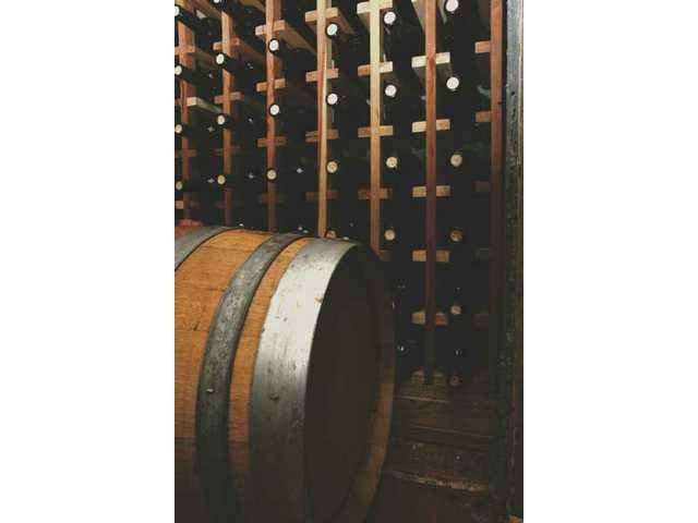 The wine cellar at Washington's Acton home.