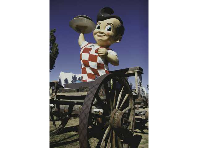 A Bob's Big Boy fiberglass prop is one of the many quirky things found inside The Barnyard.