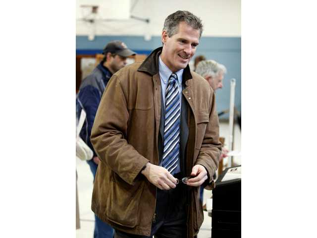 Massachusetts State Senator Scott Brown, R-Wrentham, votes in Wrentham, Mass., Tuesday, Jan. 19, 2010. Brown won a special election to fill the U.S. Senate seat left empty by the death of Sen. Edward M. Kennedy, D-Mass.