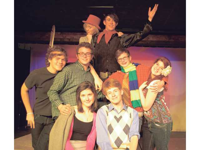 "Cast members of Saugus High School's production of ""The Fantasticks"" pose before a rehearsal. The play opens Jan. 21."