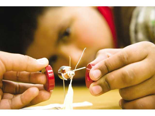 Students explore electricity and magnetism at Peachland Elementary School