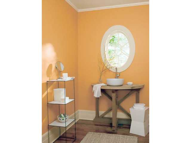 August Morning gives this bathroom a warm, cheerful feel.