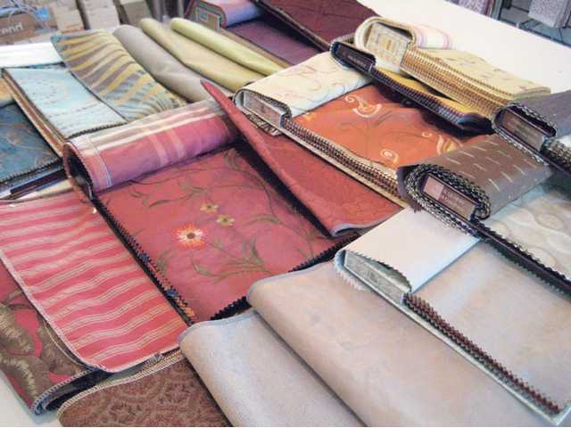 A few of Marie Stewart's fabric books which show examples of 2010 color trends.