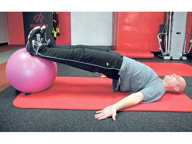 Hip Extension on Swiss Ball.