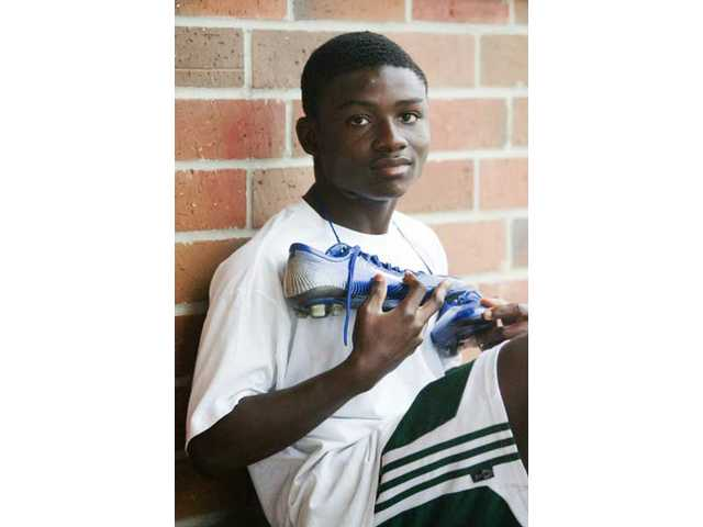 Canyon High junior soccer player Richmond Sam has attended three high schools. The first two were in Ghana and Kenya.