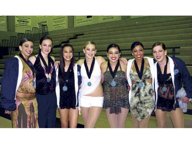 Saugus Dance Solo winners, left to right, Sarah Yuwiler, Megan Stokes, Kellie Janeski, Karissa Petersen, Samantha Bosarge, Tamara Sosa and Alexis Grcevic.