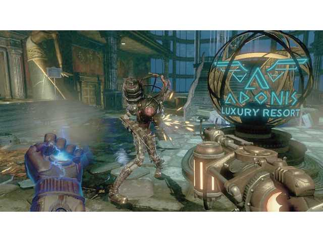 "In this video game image released by 2K Games, genetically modified warriors battle for dominance of an undersea city called Rapture in a scene from ""BioShock 2."" With new neighborhoods opened up and technological improvements, the game improves on its award-winning predecessor."