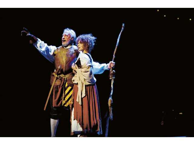 "Brent Spiner and Julia Migenes in The Reprise Theatre Company production of ""Man of La Mancha."""