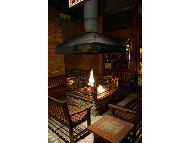 The firepit at Salt Creek Grille offers a romantic place to propose. But leave the marshmallows at home.