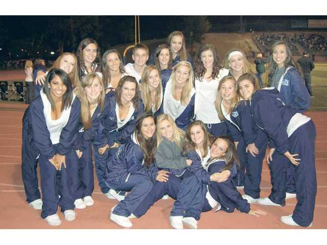 The Saugus High School Dance Team. Front row:  Courtney Robbins, Jessica Breneman, Shea Tinsley and Megan Stokes. Middle Row: Tamara Sosa, Haley Slaten, Victoria Friedman, Darla MacDonald, Karissa Petersen, Gianna Mascari, Taylor Friedman, Meagan Foertsch and Nicole Callas. Back row:  Jenny Gross, Katie Lin, Ali Naranjo, Ian Waschak, Erika Fisher, Roxy Haserjian and Kellie Janeski. The team will host a regional competition Saturday at the Saugus gym.