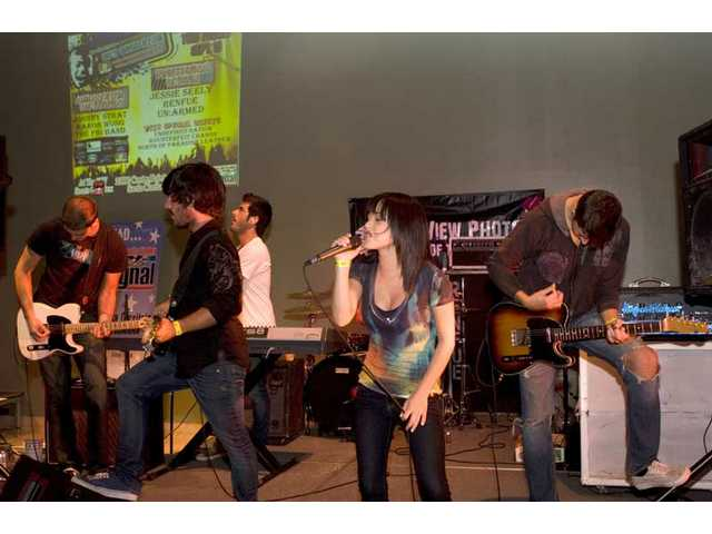 Renfue performs their winning set in the SCV Rock Star finale at the Sports Complex in September.